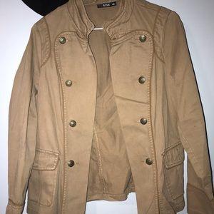 women's fashion tan over jacket